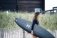Surfer & skater girl