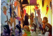 Handmade wool dolls fairies felted