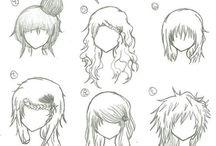 peinados para dibujar♥