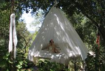 Wedding night dreams-design around a hanging bed. / A wedding night story in Topanga Canyon, CA