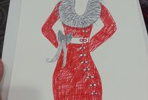 Fashion Illustrations by Trisha Trixie / Some of my Fashion Illustrations and sketches for ideas or clients