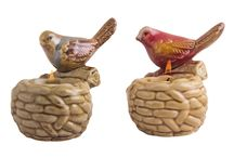 Pair of Robin Tea Light Holders