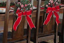 adorno de silla navidad