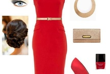 Accesorios vestido rojo