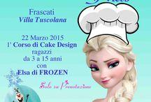"""Corso Cake Design Bambini Roma castelli Romani / Domenica 22 marzo p.v. la magia di #Elsa arrivera' a #VillaTuscolana per un evento davvero imperdibile! """"Bake Off Kids""""il 1' Corso di Cake Design a tema #Frozen. Tutti i futuri aspiranti""""pasticcioni""""avranno 3 ore piacevolissime di divertimento.  www.torteamorefantasia.com #corsobabycakedesign #cakedesignbaby #eventiaroma #eventicastelliromani #22marzo2015 """