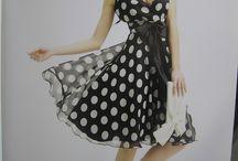 dresses polka dots