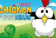 تحميل لعبة الفرخة النينجا Ninja Chicken للاندرويد رابط مباشر