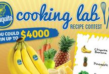#ChiquitaCookingLab / The latest news on the Chiquita Cooking Lab recipe challenge! 9/29/14 - 11/23/14 For more contest information and rules: http://www.chiquitabananas.com/cookinglab/   / by Chiquita Brands