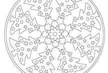 karácsonyi mandala