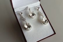 Bridal Earrings / Handmade Bridal Earrings made with Silver and Swarovski Elements