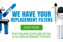 Replacement Filters, Lamps & Sleeves for Water Purification / Top-quality replacement filters, lamps and parts to help you achieve superior water for your home or business. We have all the high-quality brands you're looking for and we'll even send you a reminder email when it's time for a replacement. #waterfilters #UV #RO #waterpurification