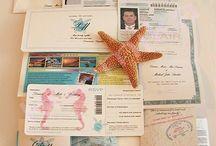 wedding invitations travel themed