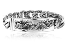 Dragon Silver Bracelets For Men - AMAZING DESIGNS / CreatIve dragon silver bracelets are a new take on a popular trend! See amazing, luxury dragon sterling silver bracelet styles here.