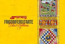 Frigorifero d'Arte / Frigorifero d'Arte Dolce&Gabbana e Smeg. Un progetto di design d'Alta Moda, in cui si incontrano e fondono i migliori saperi per dare vita a frigoriferi unici che arredano raccontando una storia tutta italiana.