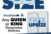 OCTOBER / SleepMaker Free Upsize - King or Queen for the price of a Single!