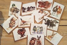 Hollie Childe Art. Gift Cards / Hollie Childe from Sale in Manchester is a young artist originally from Shropshire. Since graduating university with a First Class degree, she has been working extensively to create paintings of British farm animals, wildlife and unique pet portraits. Her inspiration comes from her upbringing in the Shropshire countryside.