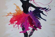 Danseuse tableau