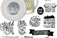 Hand Lettered Phrases and Quotes