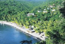 Anse Chastanet, St Lucia / Long a popular getaway for celebrating couples, Anse Chastanet (Bay of Chastanet) lies at the end of a rugged forest road, a world away from real-world stress. Guests come here for the tranquility; the beach; the snorkeling and scuba diving; the jungle mountain biking/hiking; the forest's nocturnal tree-frog chorus; and the opportunity to be alone together.