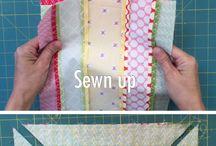 Five fabric hidden well quilt