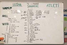 Uzina - W.O.D (Workout of the Day / Antrenamentul Zilei) / Cateva din antrenamentele de CrossFit Columna ale Uzinei