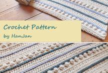 Tæpper / Strikkede og hæklede tæpper