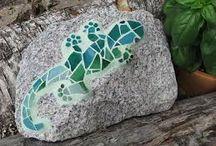 mozaiek op kei