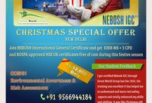 Green World Group - New Delhi / Green World Group provides Christmas Special Offer for Nebosh IGC training in New Delhi and with specialized 3 UK certifications. For more details: 9566944184. http://www.greenwgroup.com