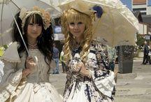 Gothic Lolita Style / Japanese street-style inspired Gothic Lolita looks.