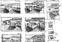 Sketches, studies, thumbnails
