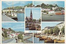 Postkort fra byer i Norge
