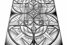 The Art of Fibonacci / Fibonacci fineline art.