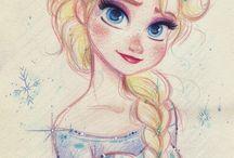 dessin princesses disney