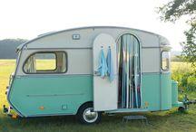 Caravan / Met de Vintage Paint uit Denemarken kan je zonder schuren of enige andere voorbewerking ook alles aan of op de caravan verven.