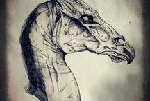 Creatures / Concept art, drawings, fantasy creatures