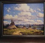 Miniature Framed Giclees / Randy Van Beek Miniature Framed Giclees  Native American Scenes and Landscapes $145.00 each www.spiritsinthewindgallery.com   303-279-1192