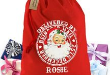 Personalised Christmas Inspiration / Personalised Christmas Sack -. The only Christmas sack officially endorsed by Father Christmas Christmas sacks directly from his remote Lapland warehouse