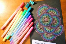 Patterns on Black - Art Journal by HoS
