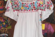 Mexican Peasant Blouse / Mexican peasant tops, embroidered peasant blouses, and accessories for a proper fiesta, no matter what side of the border you are on....