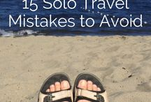 TRAVEL - Solo /  I made this board because i was a little bit anxious about travelling solo for the first time. Here you can find all the tips and tricks that you should know before you hit the road on your own! Traveling solo changed my life and is the single greatest empowering experience.