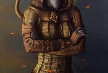 [oc] aralen / skyrim   dunmer   archer   one-handed warrior   thief   book hoarder   thieves guild