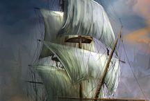 Pirate, Ship, tropical, inspiration...