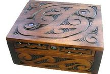 carved boxs