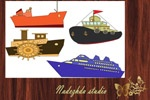 "Clip Art Ship / NADEZHDA STUDIO Graphic design Studio ""Fresh idea"""