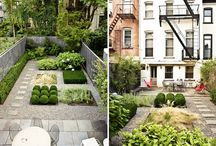 Outdoor Ideas / I want to have two distinct areas: an urban/zen feel on the side in front of the garage/guest house, then another larger backyard that opens to the kitchen. Not sure if I want to keep the grass in the backyard.  / by AdaPia D'Errico