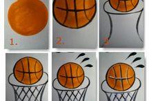kosárlabda rajz-basketbal drawing