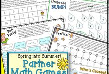 First Grade Math Games and Centers / First graders love to play games, so why not add some of these engaging math games to your small group lessons and math centers? Give it a try and watch their skills grow!