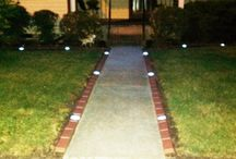 Edging with Plastic Decorative Bricks / Plastic brick edging with or without solar lights. To give you the look for a great curb appeal
