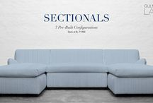 SECTIONALS / A sectional sofa, often just referred to as a 'Sectional', is formed from multiple sections (typically two, three, four or more) and usually includes at least two pieces that join at an angle of 90 degrees usually set along the walls. Design your perfect lounge space with one of our 7 Pre-built Configurations of Sectionals with multiple fabric options. Shop For Sectionals at, http://www.gulmoharlane.com/categories/sectionals