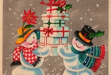 Vintage Christmas -- Snowmen